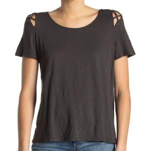 Michael Stars Crew Neck Cutout T-Shirt Oxide OS